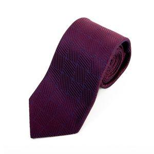 Ermenegildo Zegna Potion Purple Parquet Silk Tie